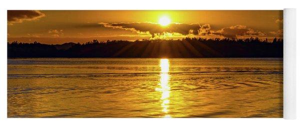 Golden Sunrise Waterscape Yoga Mat