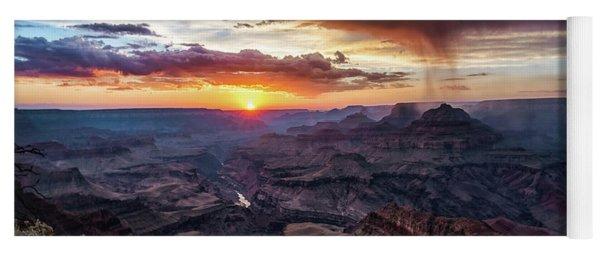 Grand Canyon Monsoon Sunset Yoga Mat
