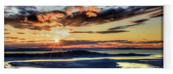 Great Salt Lake Sunset Yoga Mat