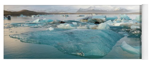 Jokulsarlon The Glacier Lagoon, Iceland 2 Yoga Mat