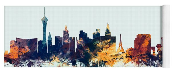 Las Vegas Nevada Skyline Yoga Mat