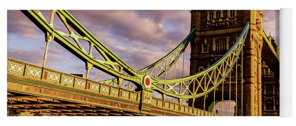 London Tower Bridge. Yoga Mat