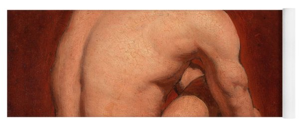 Male Nude, Kneeling, From The Back Yoga Mat