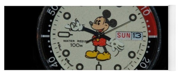 Mickey Mouse Watch Face Yoga Mat
