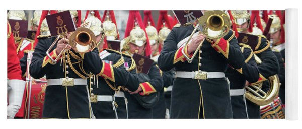 Military Parade Dorking Surrey Uk Yoga Mat