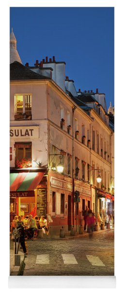 Yoga Mat featuring the photograph Montmartre Twilight by Brian Jannsen