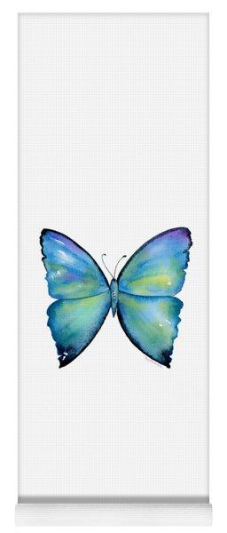 2 Morpho Aega Butterfly Yoga Mat