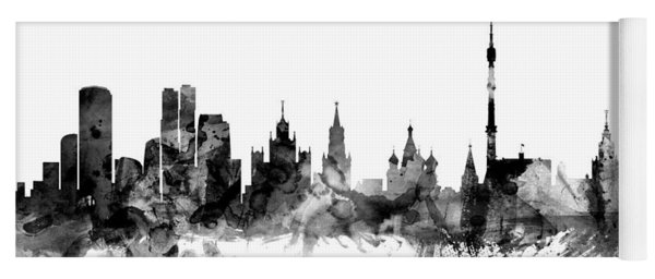 Moscow Russia Skyline Yoga Mat
