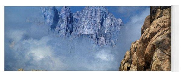 Mount Whitney In Clouds Alabama Hills California Yoga Mat