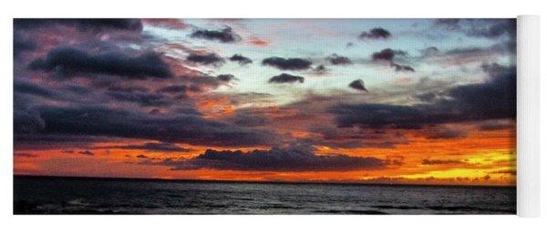 Hawaii Sun Set A Yoga Mat