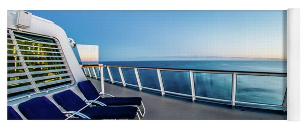 Yoga Mat featuring the photograph On The Cruise Ship by Alex Grichenko