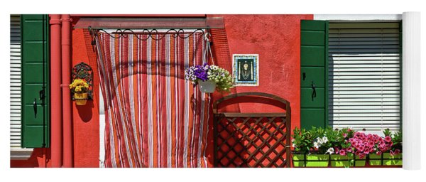 Picturesque House In Burano Yoga Mat