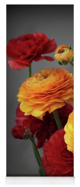 Yoga Mat featuring the photograph Ranunculus In Bloom by Jessica Jenney