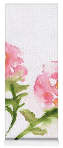 2 Roses Abstract Yoga Mat