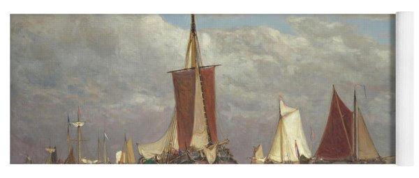Ships Lying Near Dordrecht Yoga Mat