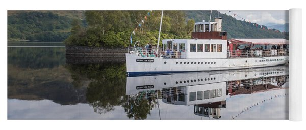 Steamship Sir Walter Scott On Loch Katrine Yoga Mat