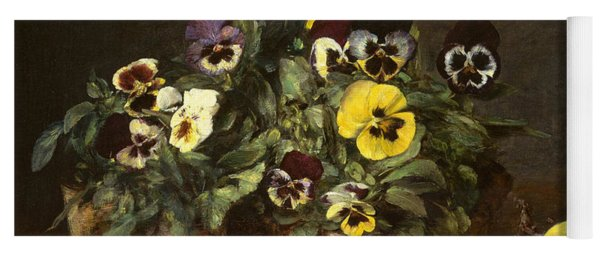 Still Life With Pansies Yoga Mat