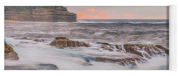 Sunrise Seascape And Headland Yoga Mat