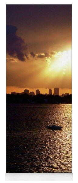 Sunset Over Miami Yoga Mat