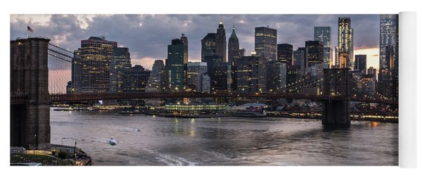 Sunset Over New York City Yoga Mat