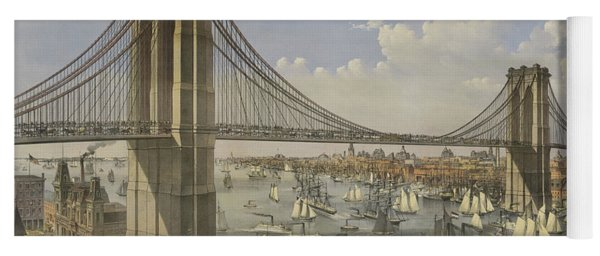 The Great East River Suspension Bridge Yoga Mat