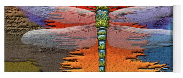 The Legend Of Emperor Dragonfly Yoga Mat