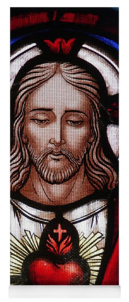 The Sacred Heart Of Jesus Yoga Mat