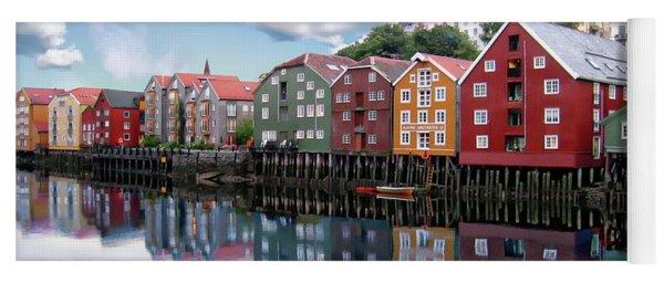 Trondheim Coastal View Yoga Mat