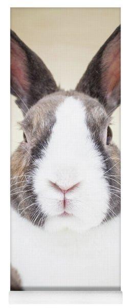 White And Tan Rabbit Yoga Mat