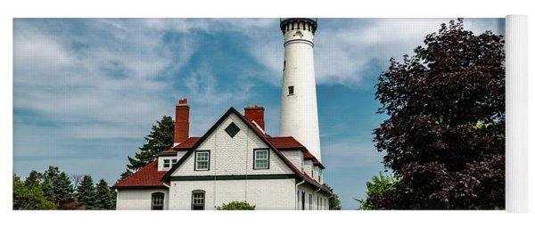 Wind Point Lighthouse Yoga Mat