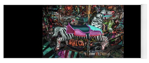 Yoga Mat featuring the photograph Zebra Carousel by Michael Arend