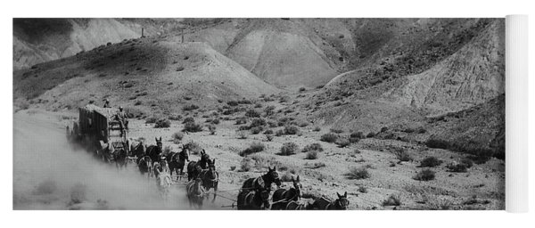 20 Mule Team Borax Hauling - Death Valley C. 1899 Yoga Mat