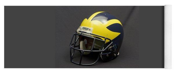 Yoga Mat featuring the photograph 2000s Era Wolverine Helmet by Michigan Helmet