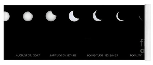 2017 Solar Eclipse Yoga Mat