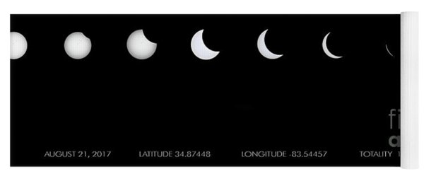 2017 Solar Eclipse Yoga Mat