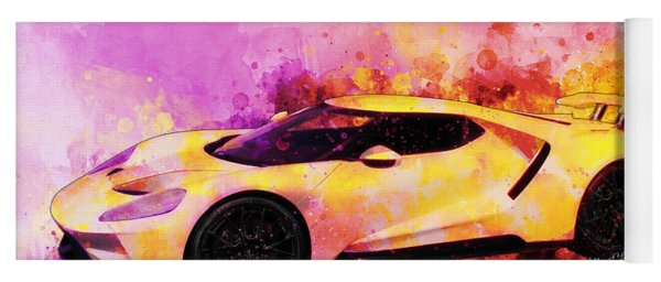 2018 Ford Gt Watercolour Whatta Ride Yoga Mat