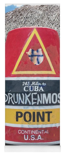 245 Miles To Cuba Drunkenmost Point Yoga Mat