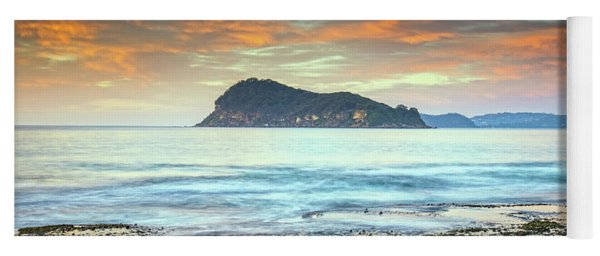 Sunrise Seascape With Clouds Yoga Mat
