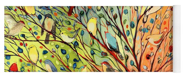 27 Birds Yoga Mat