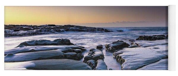 Sunrise Seascape And Rock Platform Yoga Mat
