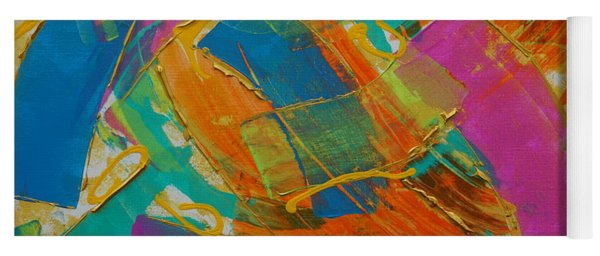 Yoga Mat featuring the painting Silk by Jimmy Clark