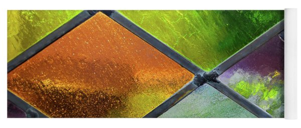 Diamond Pane Glass Yellow Yoga Mat