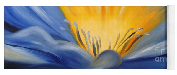 From The Heart Of A Flower Blue Yoga Mat