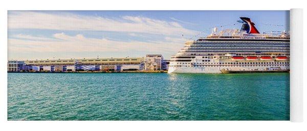 Miami Port - Miami Port One Of The Biggeest Passanger Port In Us Yoga Mat