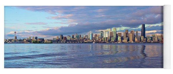 Seattle Skyline Cityscape Yoga Mat