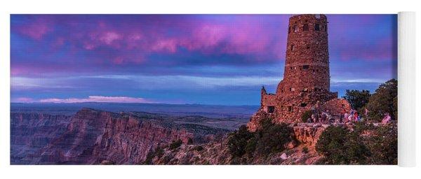 Sunset - Watch Tower - Desert View Point - Grand Canyon Arizona Yoga Mat