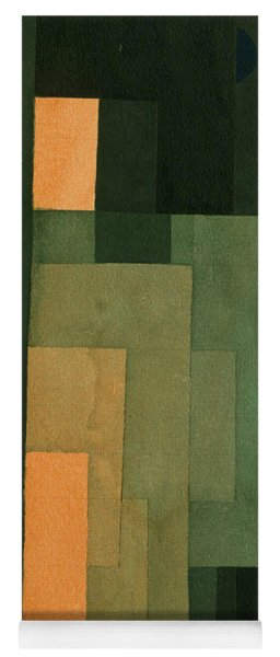 Tower In Orange And Green Yoga Mat
