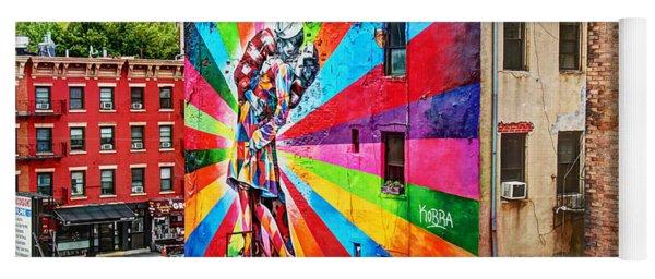 V - J Day Mural By Eduardo Kobra Yoga Mat