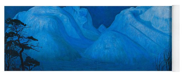 Winter Night In The Mountains Yoga Mat