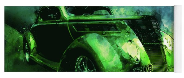37 Ford Street Rod Luv Me Green Meanie Yoga Mat
